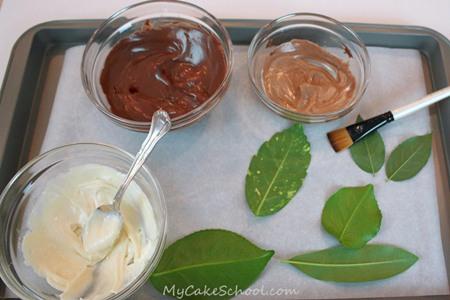 Tutorial para hacer hojas de chocolate