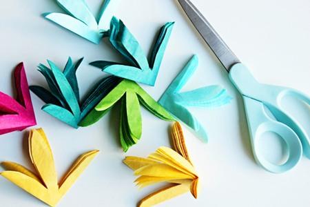 Tutorial Guirnalda De Flores De Papel De Seda Fiestas Coquetas Blog - Como-hacer-guirnaldas-de-papel-de-seda