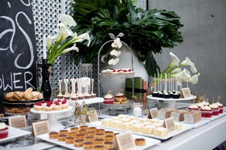 Mesa dulce de san valentín