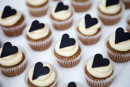 Cupcakes con corazón de san valentín