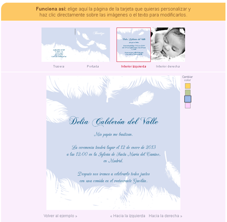 Página web invitacionesdebautizo.com