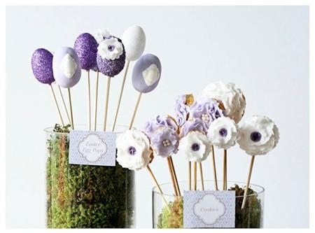 pop cakes y galletas piruleta de pascua