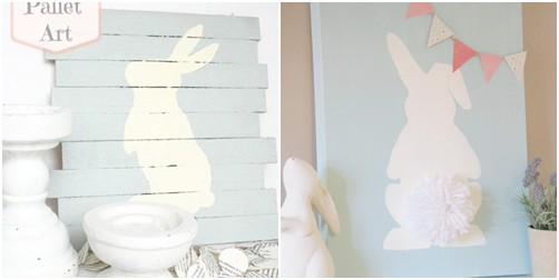 decoración pared pascua