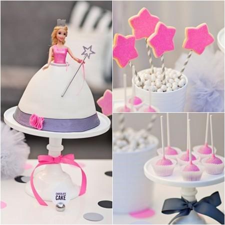 Tarta de princesas y galletas decoradas