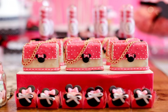 Dulces para una fiesta de Minnie Mouse