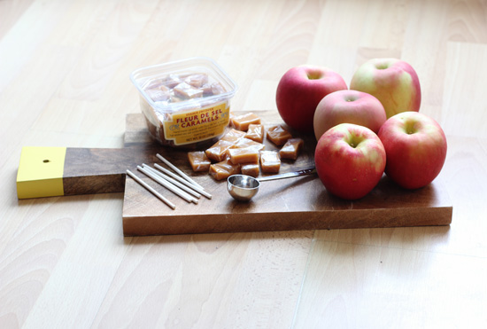 Receta pop cakes de manzana con caramelo