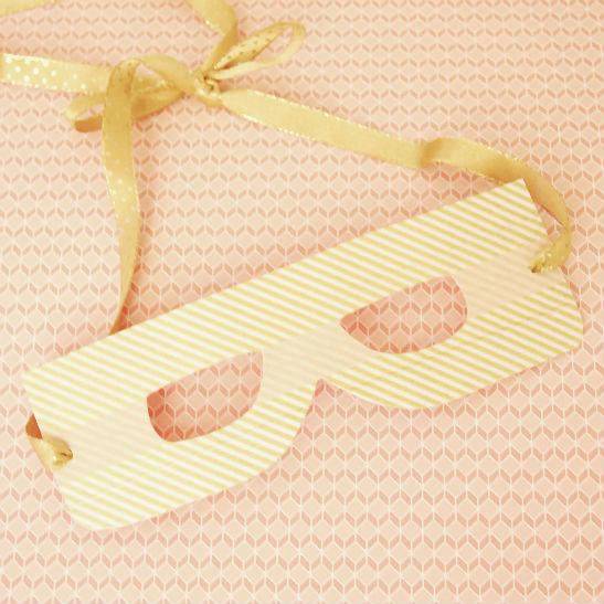 Máscara de papel con washi-tape