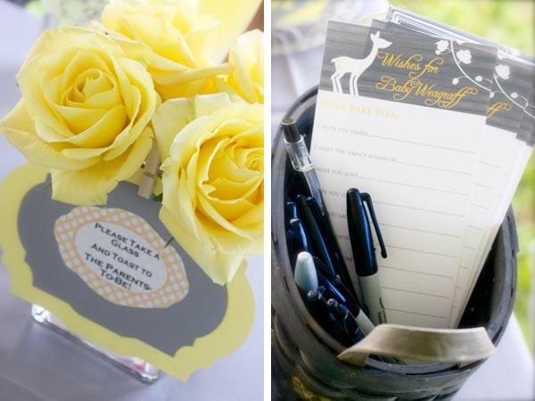 Un bautizo en amarillo y gris fiestas coquetas blog for Decoracion de salas en gris y amarillo