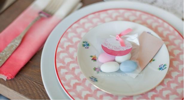 Etiquetas para dulces en un bautizo de griottes