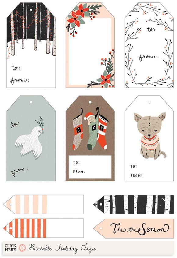 Etiquetas imprimibles gratis de Navidad