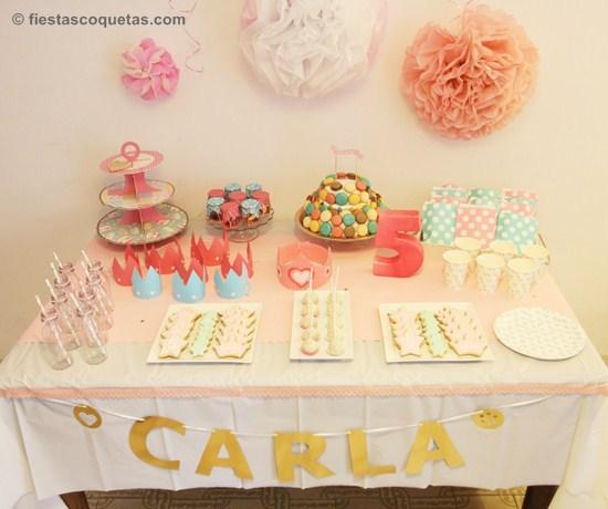 Fiesta de princesas para Carla