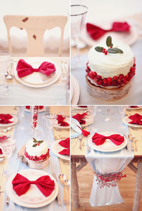 Ideas para decorar la mesa de navidad en rojo y blanco - Ideas para decorar la mesa de navidad ...