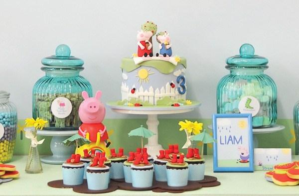 Mesa dulce tematica de la Peppa Pig