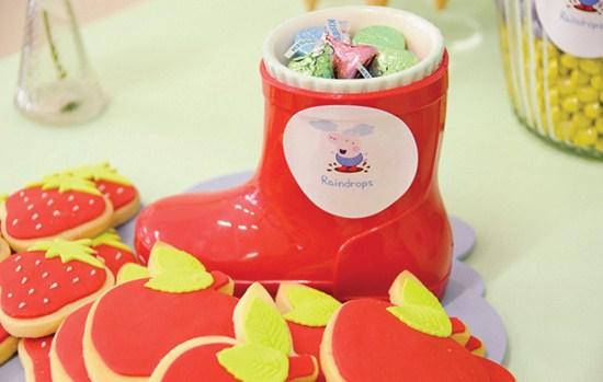 Fiesta infantil y tarta fondant de la peppa pig