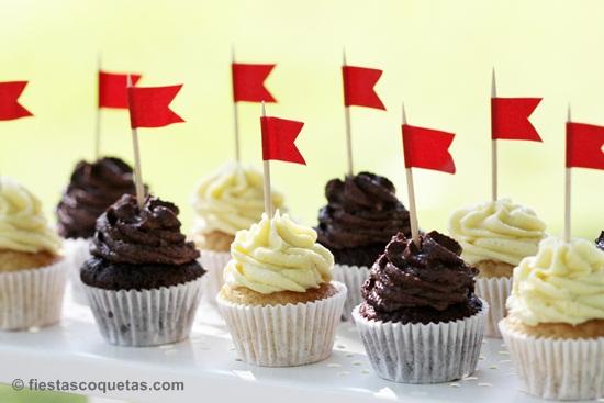 MInicupcakes para una fiesta infantil de caballeros
