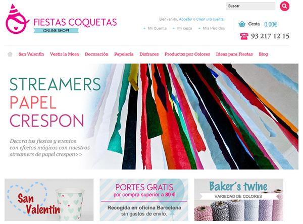 Productos para fiestas en shopfiestascoquetas.com