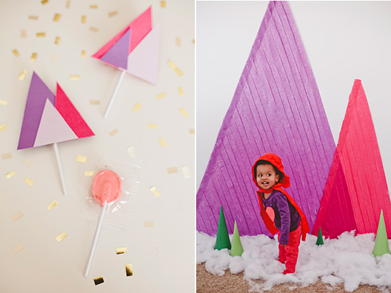 Fiesta de cumpleaños con temática geométrica