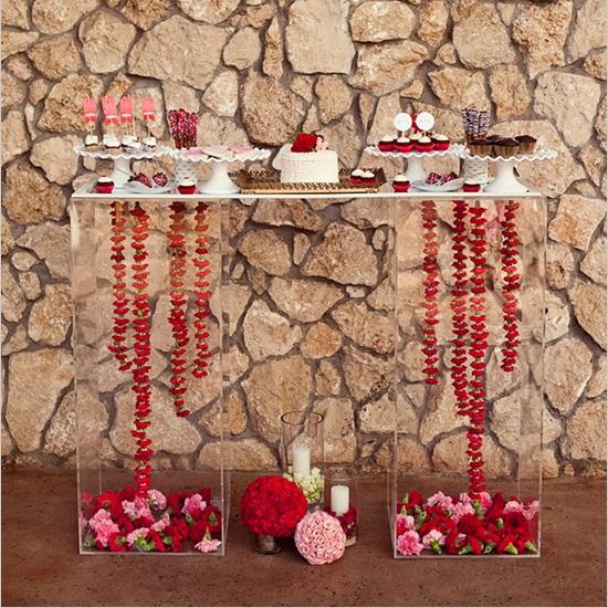 Mesa dulce para la fiesta de san valentin