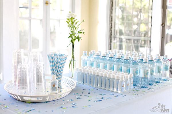 buffet de bebidas bautizo niño
