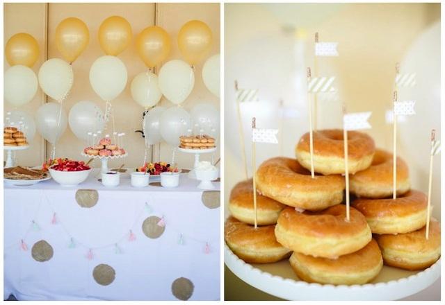 Buffet dulce de donuts
