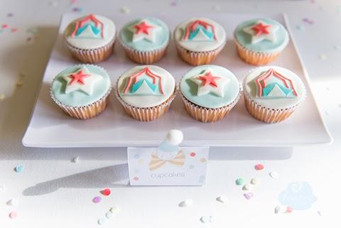 cupcakes con temática circo