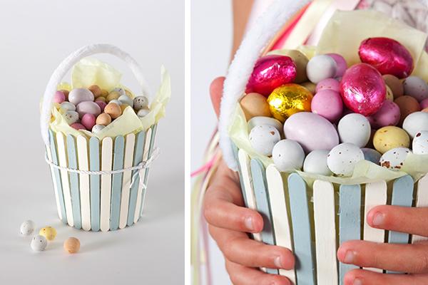 Diy cesta para huevos de pascua