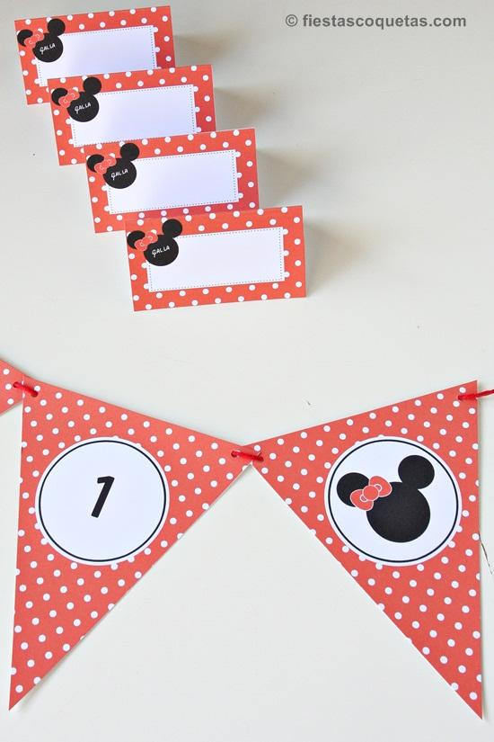 Kit de papelería de la Minnie Mouse personalizado