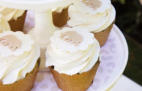 Cupcakes decorados con temática safari