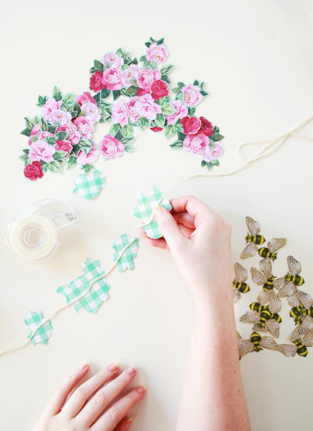 DIY: Guirnalda de papel de flores