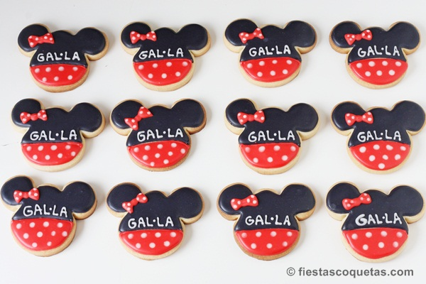 Galletas decoradas de la Minnie Mouse