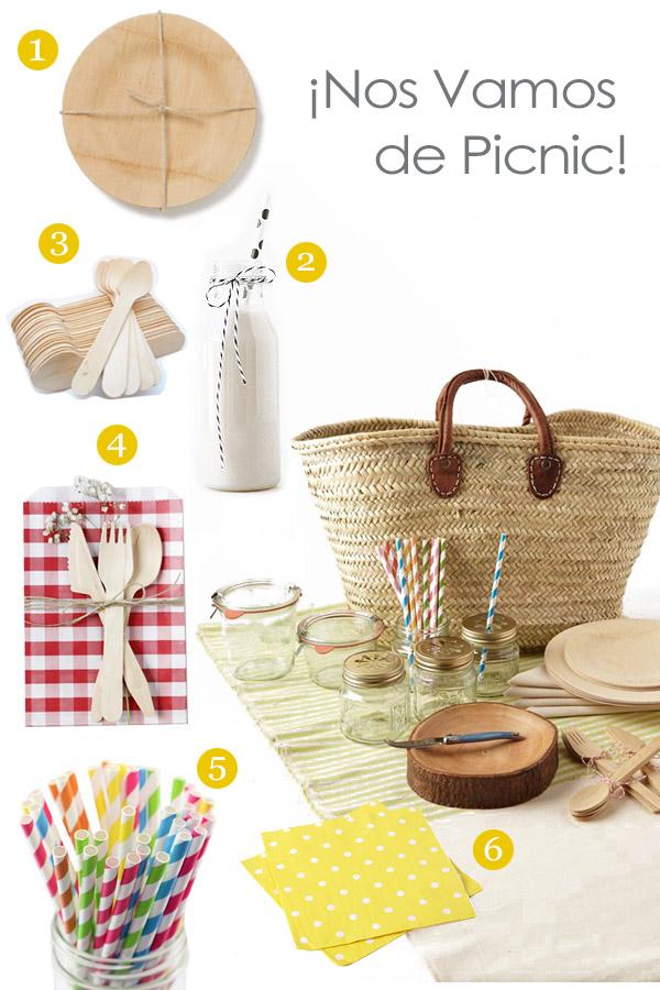 Productos para organizar un picnic