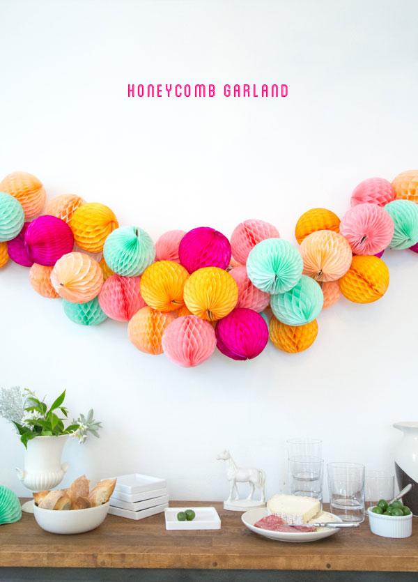 Guirnalda bolas nido de abeja