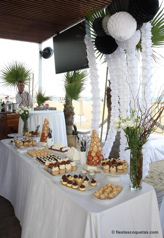 Mesa dulce para una fiesta en la playa fiestas coquetas blog for Decoracion para mesa dulce