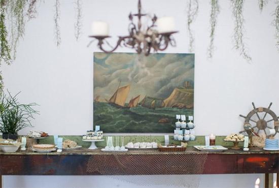 mesa dulce estilo nautico