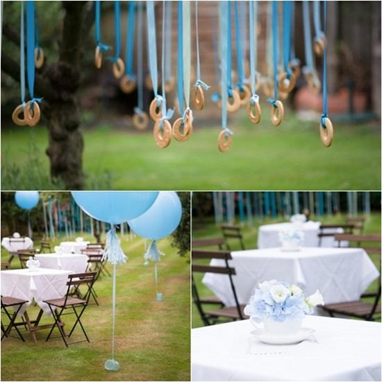 precioso bautizo azul en el jard n fiestas coquetas blog