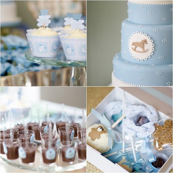 Mesa dulce bautizo azul