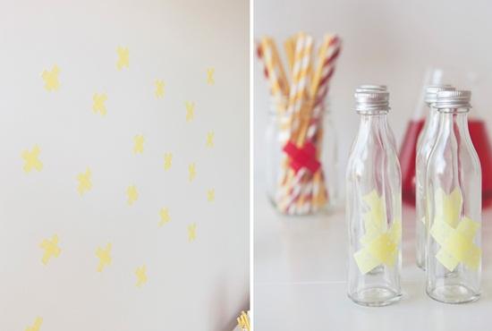 decorar fiestas con washi tape