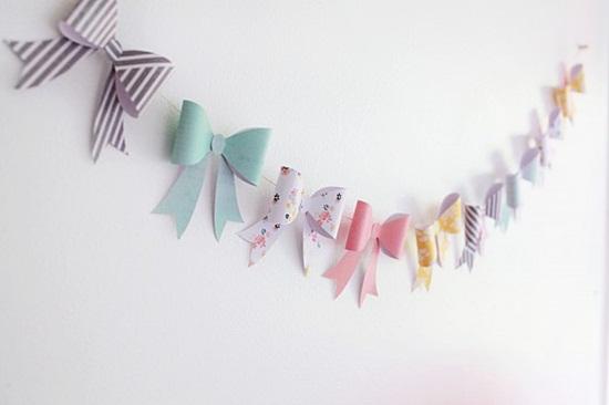 guirnalda lazos de papel