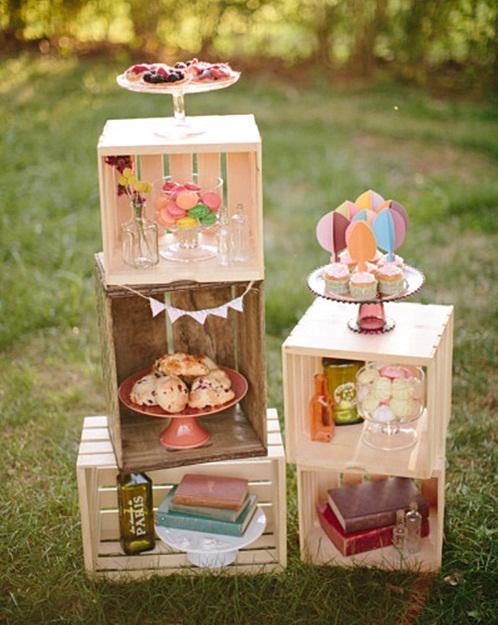 Mesa dulce con caja diy