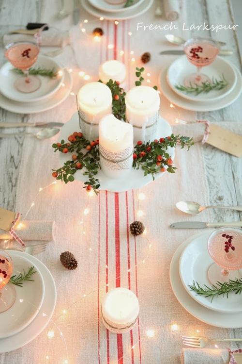 Una mesa de navidad al estilo n rdico fiestas coquetas blog - Mesas para navidad ...