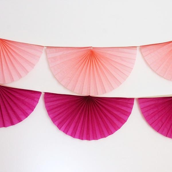 guirnalda abanicos de papel