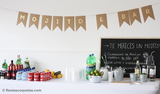 Barra de bebidas boda y eventos