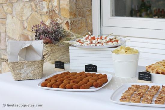 Mesa catering salado cumpleaños