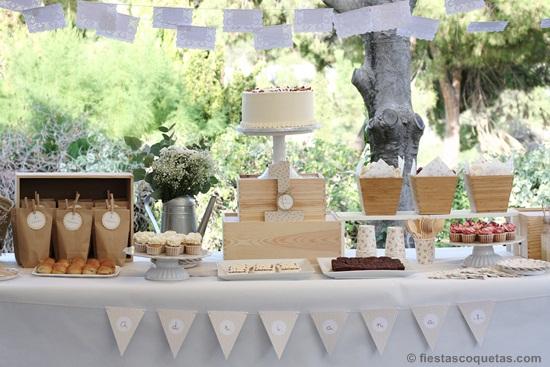 Mesa dulce primer cumpleaños jardín