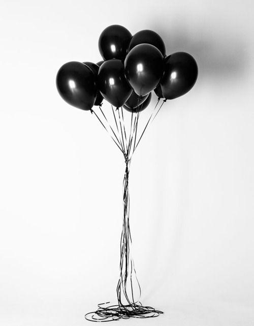 globos negros para halloween
