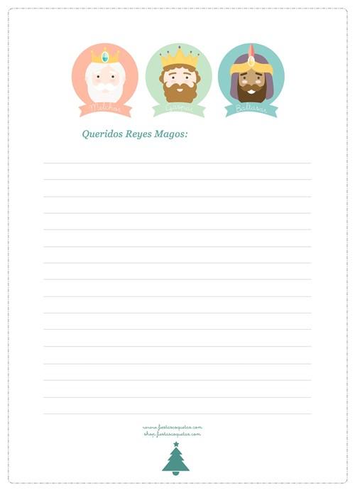 Worksheet. Carta Reyes Magos y carta a Pap Noel gratis para imprimir