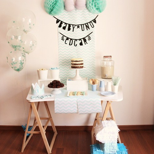 Decoraci n del primer cumplea os del beb edgar fiestas - Decoracion primer cumpleanos ...