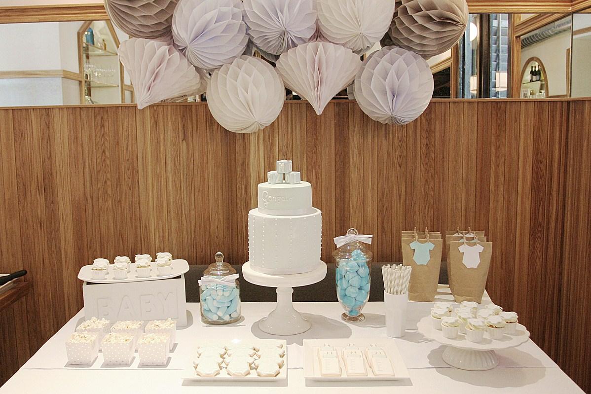 La decoraci n del bautizo de gonzalo - Hacer mesa dulce bautizo ...