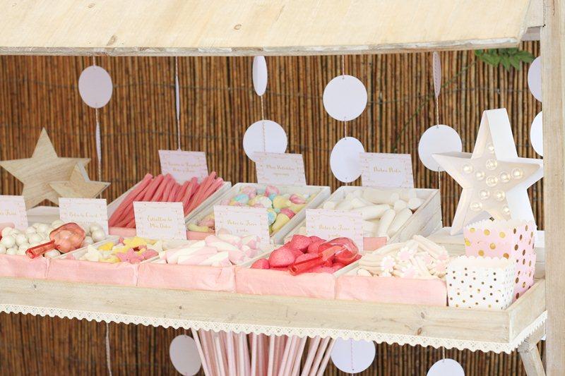 Postres para el carrito candy bar para primera comunión