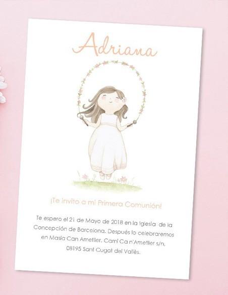 Invitaciones y recordatorios de comunión personalizados